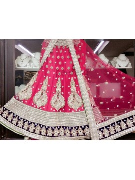 Pink Lehenga with gorgeous Silver works
