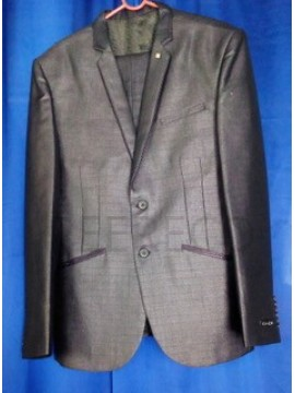 Grey Single Beasted Formal Suit
