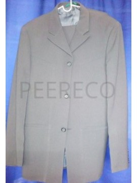 Light Grey Single Breasted Men Suit